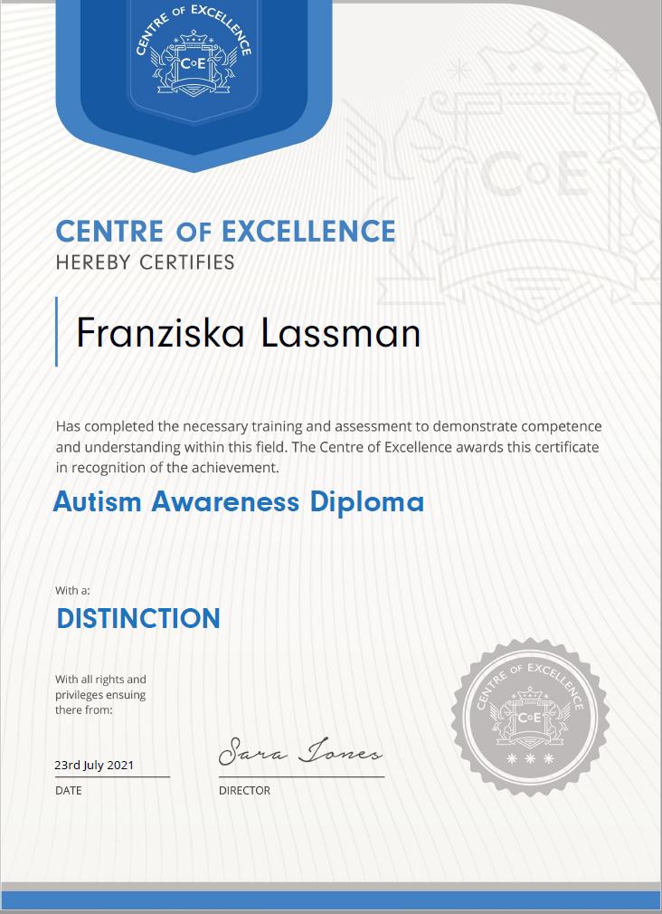Autism Awareness Diploma